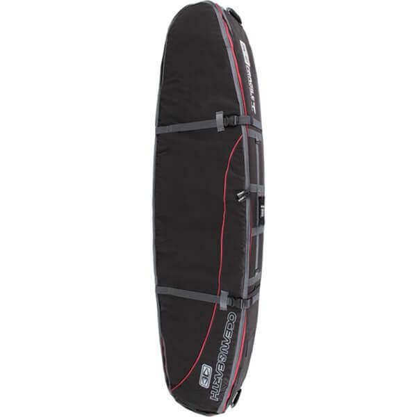"Ocean & Earth Double Coffin Black / Red Shortboard Board Bag - 1-3 Boards - 23"" x 7'6"""