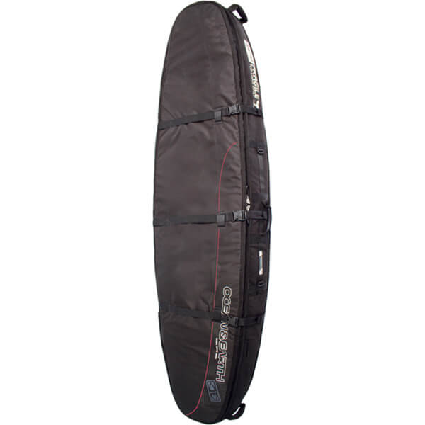 "Ocean & Earth Double Coffin Black / Red / Grey Shortboard Board Bag - 1-3 Boards - 23"" x 8'"