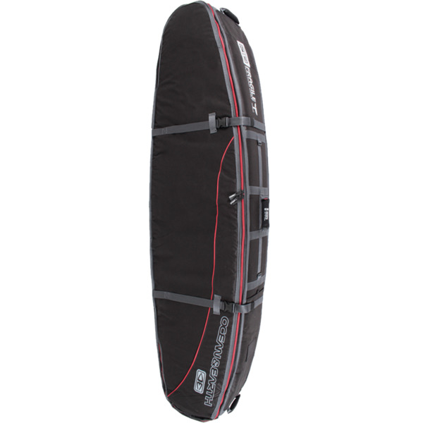 "Ocean & Earth Triple Coffin Black / Red / Grey Shortboard / Fish Board Bag - 1-4 Boards - 23"" x 6'"