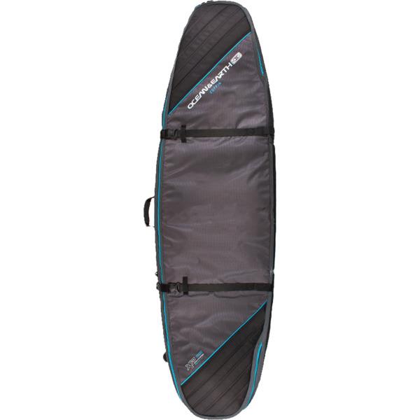 "Ocean & Earth Triple Coffin Black / Blue Shortboard / Fish Board Bag - 1-4 Boards - 23"" x 6'6"""