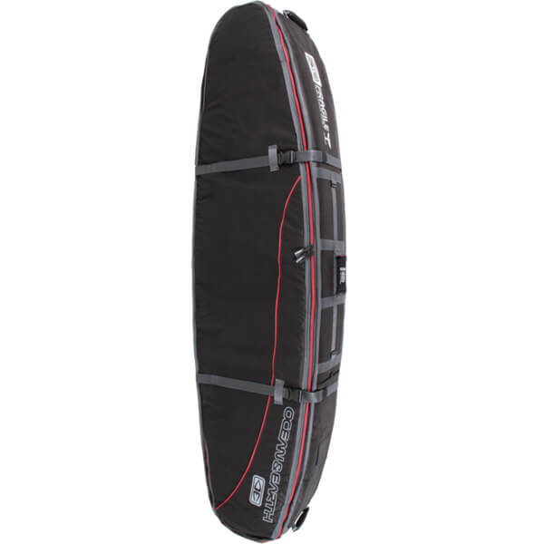 "Ocean & Earth Triple Coffin Black / Red / Grey Shortboard Board Bag - 1-4 Boards - 23"" x 7'"