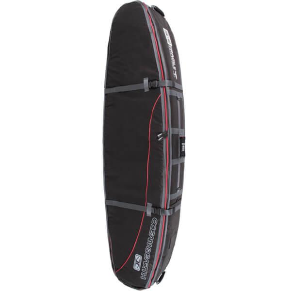 "Ocean & Earth Triple Coffin Black / Red / Grey Shortboard Board Bag - 1-4 Boards - 23"" x 7'6"""