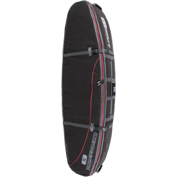 Ocean & Earth Quad Coffin Black / Red / Grey Shortboard Board Bag - 7'6""