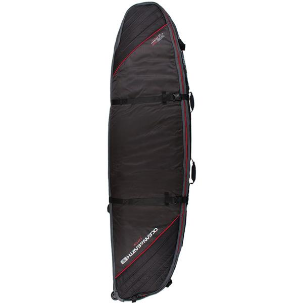 Ocean & Earth Triple Wheel Black / Red / Grey Shortboard / Fish Surfboard Bag - 6'