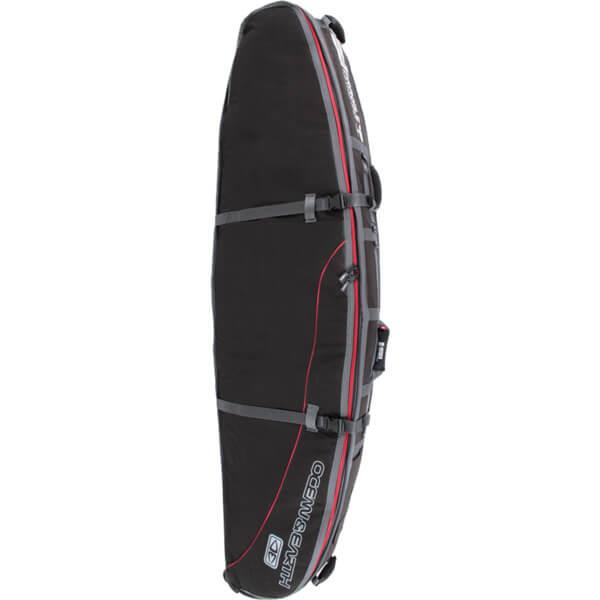 """Ocean & Earth GTS Triple Wheel Black / Red Shortboard Board Bag - 1-4 Boards - 22.5"""" x 6'6"""""""