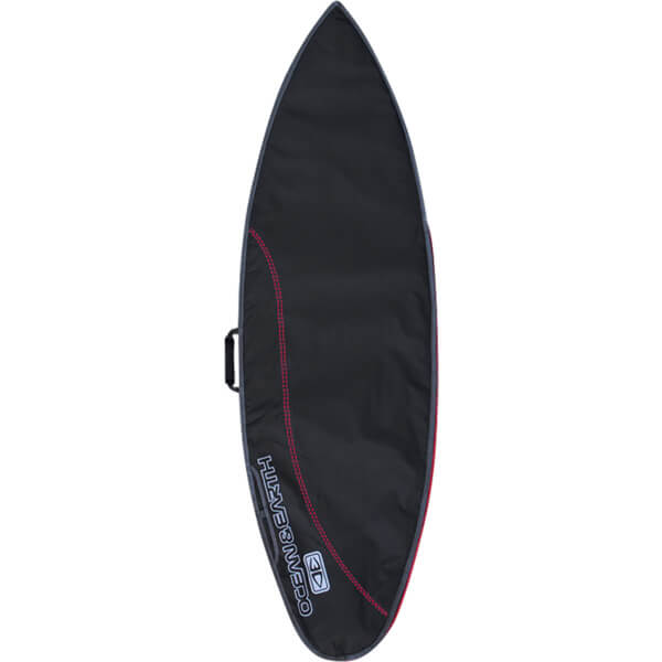 """Ocean & Earth Compact Day Black / Red Shortboard Board Bag - Fits 1 Board - 22.5"""" x 7'"""
