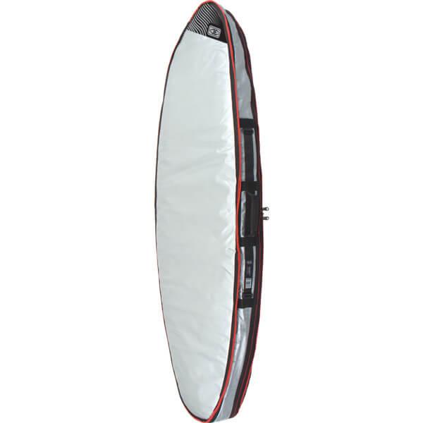 """Ocean & Earth Barry Basic Silver Double Shortboard Board Bag - 1-3 Boards - 22"""" x 6'"""
