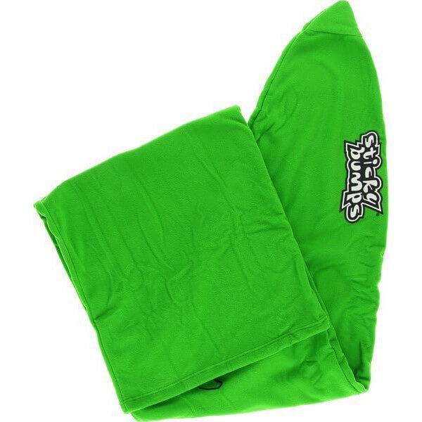 Sticky Bumps Fleece Green Thruster Surfboard Sock - 7'
