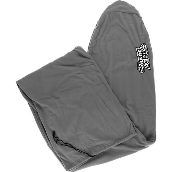 """Sticky Bumps Fleece Grey Longboard Surfboard Sock - 8'6"""""""