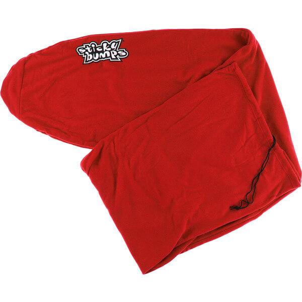 """Sticky Bumps Fleece Red Longboard Surfboard Sock - 8'6"""""""