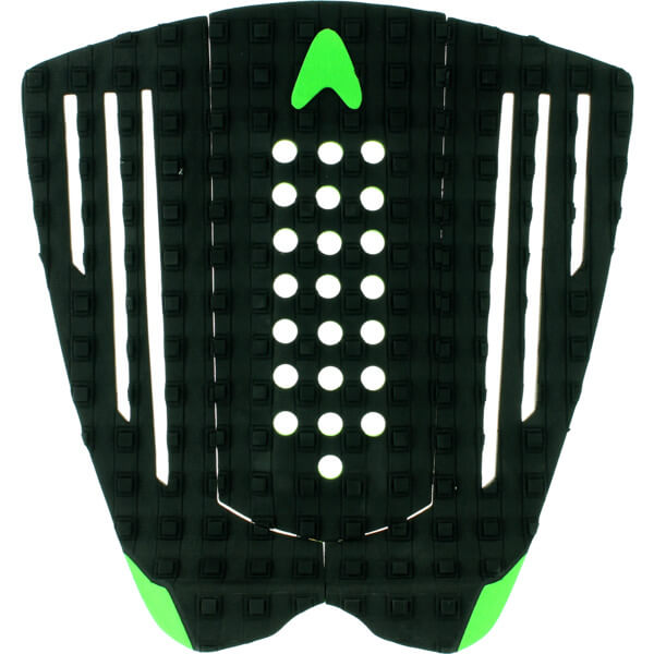 Astrodeck Patrick Gudauskas 126 Black / Green Surfboard Traction Pad