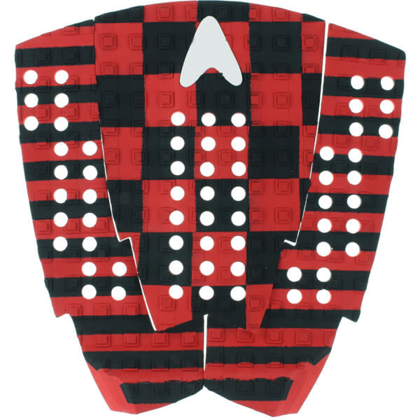 Astrodeck Christian Fletcher CF007 Black / Red Surfboard Traction Pad