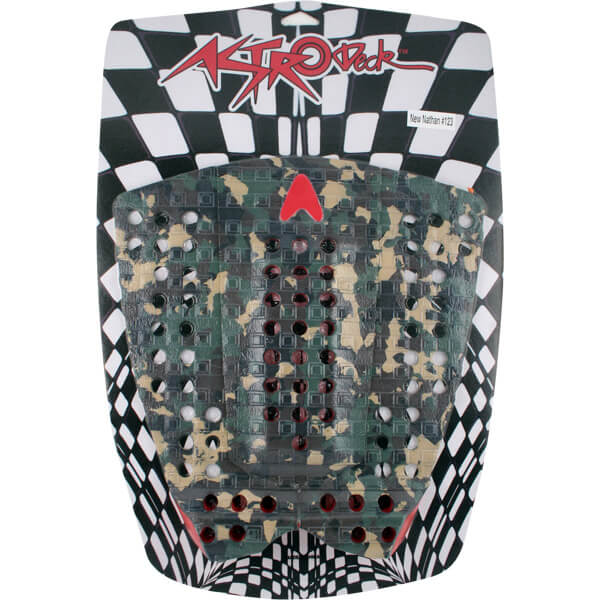 Astrodeck Nathan Fletcher 123 Camo Surfboard Traction Pad