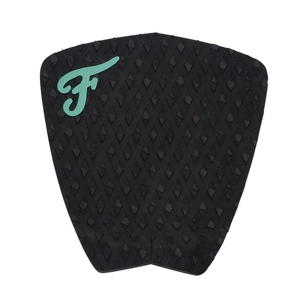 Famous Surf Eco F2 Black Surfboard Traction Pad - 2 Piece