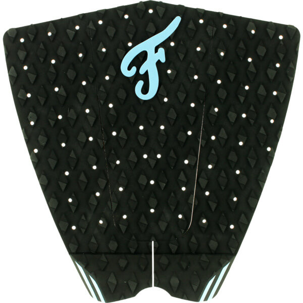 Famous Surf Fillmore Black / Blue Surfboard Traction Pad - 3 Piece
