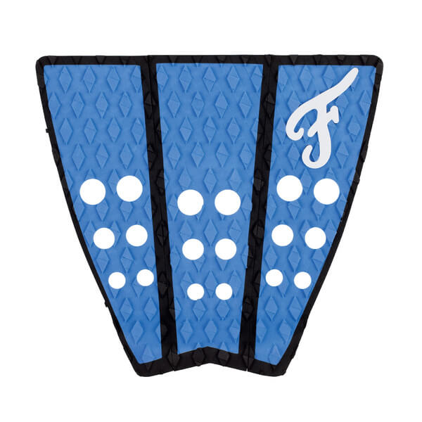 Famous Surf Hatteras Blue / Black Surfboard Traction Pad - 3 Piece