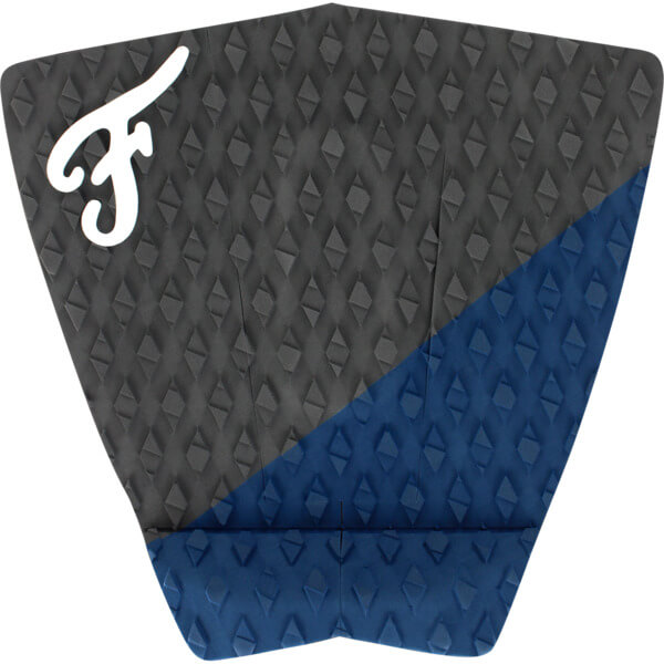 Famous Surf Port Coal / Blue Surfboard Traction Pad - 3 Piece