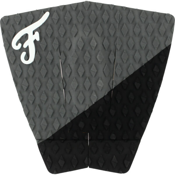 Famous Surf Port Coal / Black Surfboard Traction Pad - 3 Piece