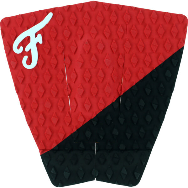 Famous Surf Port Black / Red Surfboard Traction Pad - 3 Piece