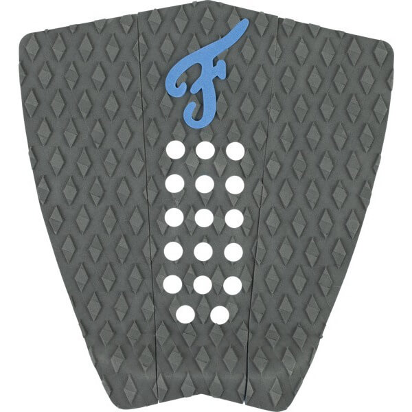 Famous Surf Nathaniel Curran Stranded Coal / Blue Surfboard Traction Pad - 3 Piece