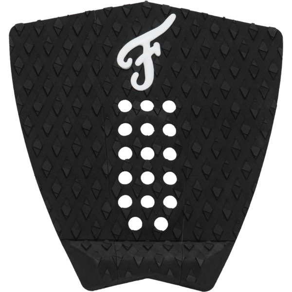 Famous Surf Nathaniel Curran Standed Black / White Surfboard Traction Pad - 3 Piece