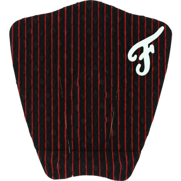 Famous Surf Friend Hampton Black / Red Surfboard Traction Pad - 3 Piece