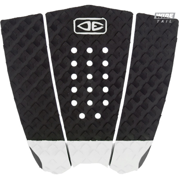 Ocean & Earth Simple Jack Hybrid Wide Tail Black / White Surfboard Traction Pad