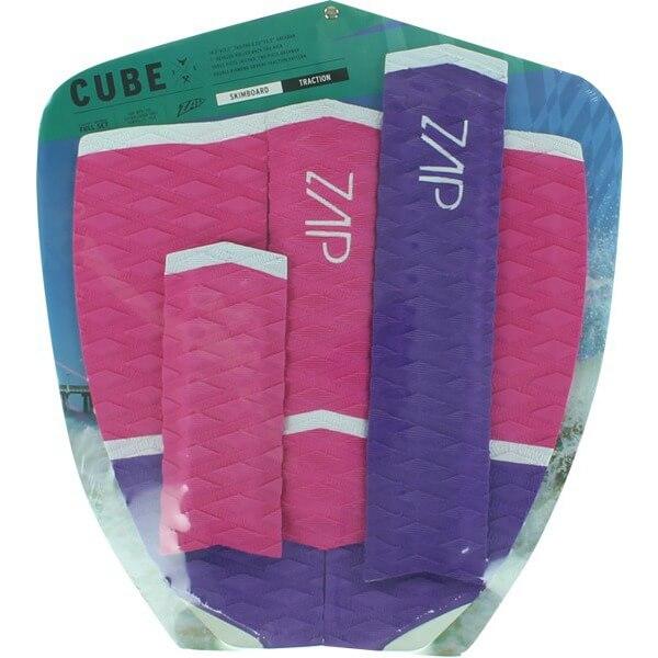 Zap Cube Pink / Purple / White Skimboard Tail / Arch Bar Set