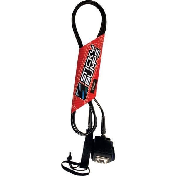 Sticky Bumps Calf Clear / Black Longboard Leash - 9'