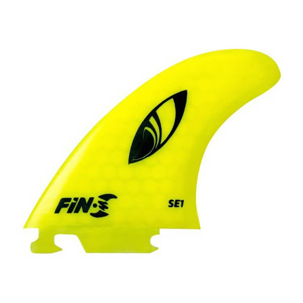Fin-S Sharp Eye SE1 Honeycomb Yellow Fin-S Thruster Surfboard Fins - Set of 3 Fins