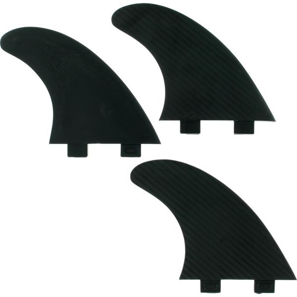 Fin Solutions Large Black FCS Thruster Surfboard Fins - Set of 3 Fins