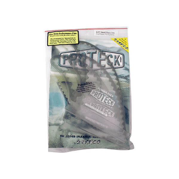"""Pro Teck Power Flex 4.25"""" Clear / Smoke Futures Fin System Includes 3 Fins"""