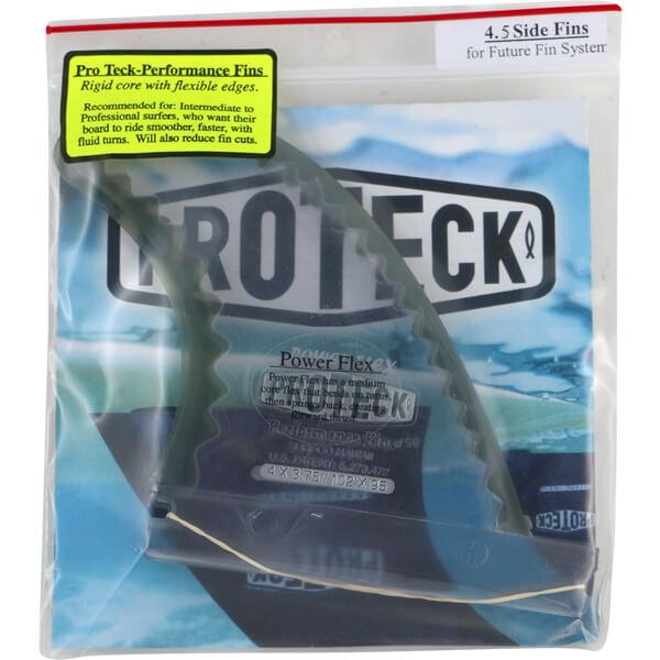 "Pro Teck Power Flex 4.5"" Clear / Black Futures Side Fins Includes 2 Fins"