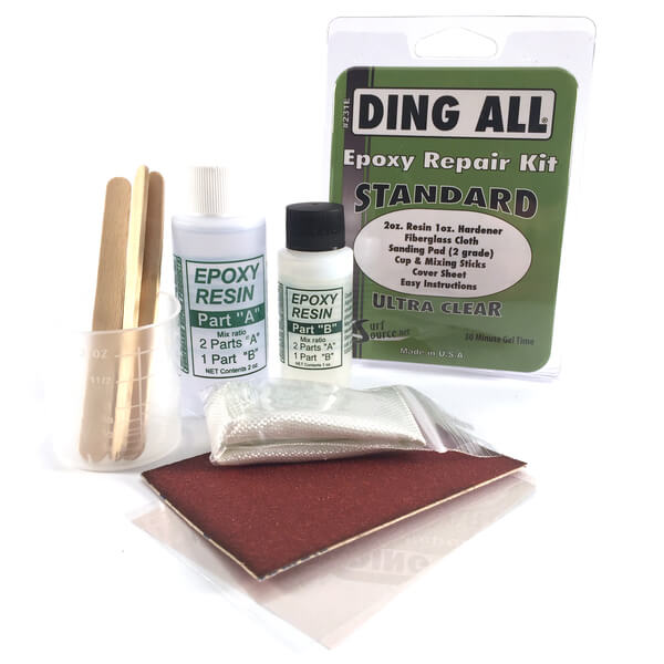Ding All Standard Ultra Clear Epoxy Repair Kit