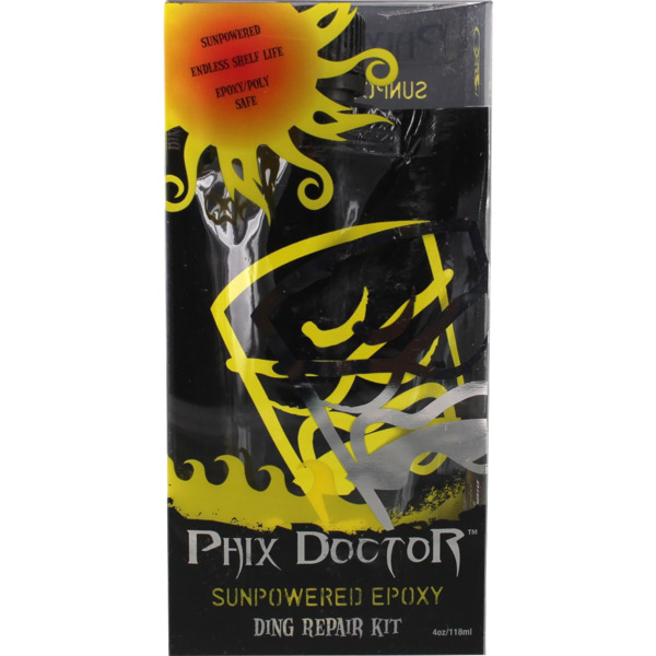 Phix Doctor 4 oz SunPowered Epoxy / Polyester Universal Surfboard Ding Repair Kit