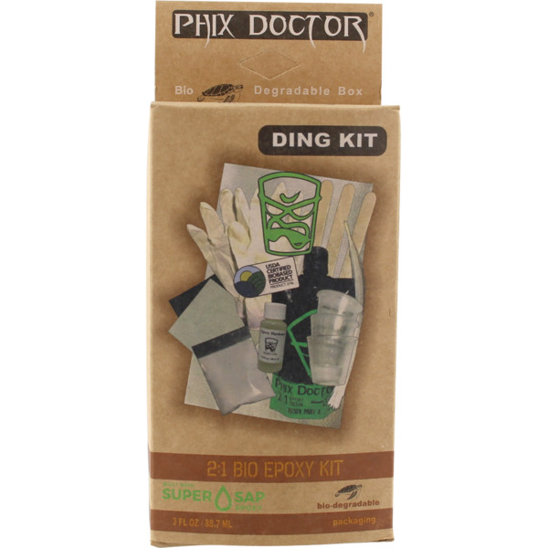 Phix Doctor 3 oz 2:1 Bio Epoxy Resin Surfboard Ding Repair Kit