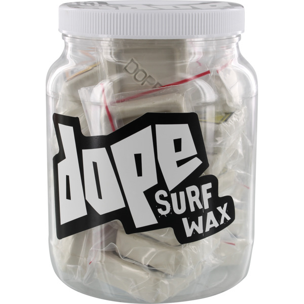 Dope Skate Wax 20 Mini Nug Bars Jug Assorted Colors Surf Wax