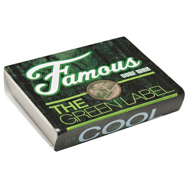 Famous Surf Green Label Cool Organic Surf Wax