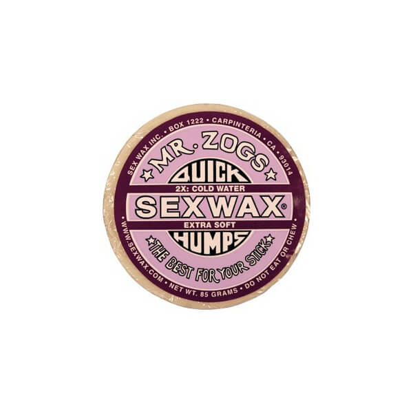 Sex Wax Quick Humps Purple 2X Extra Soft X-Cold to Cold Water Surf Wax