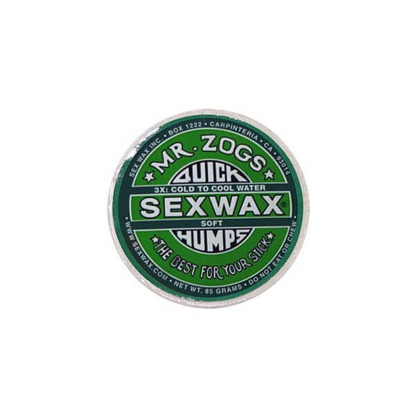 Sex Wax Quick Humps Green 3X Soft Cool to Mid-Warm Water Surf Wax