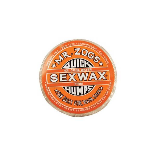 Sex Wax Quick Humps Orange 4X Firm Mid-Cool to Warm Water Surf Wax