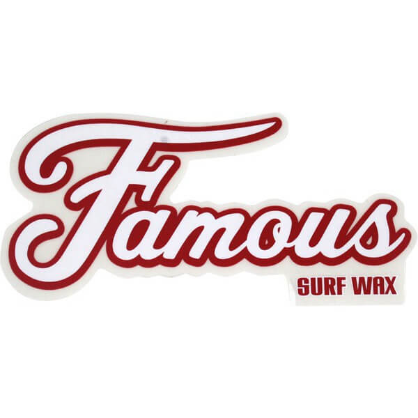 "Famous Surf 6"" Single Skate Sticker"