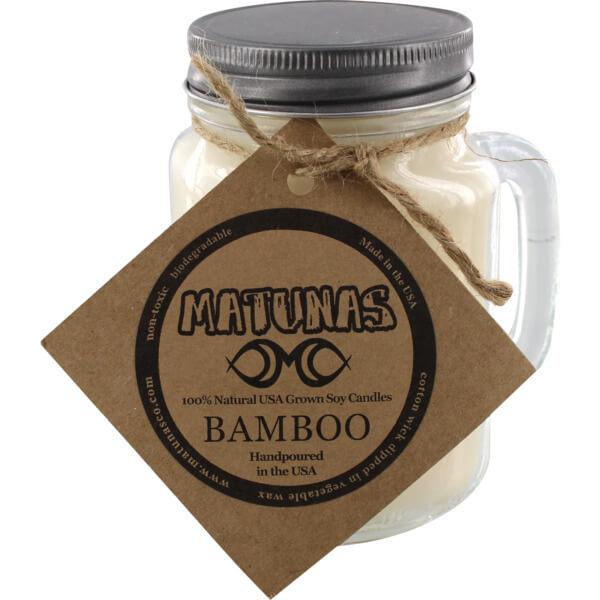 Matunas 16 oz. Glass Mug Bamboo Scented Soy Surf Wax Candle