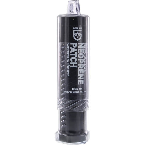 Gear Aid Tenacious Tape Iron-On Black Neoprene Patch