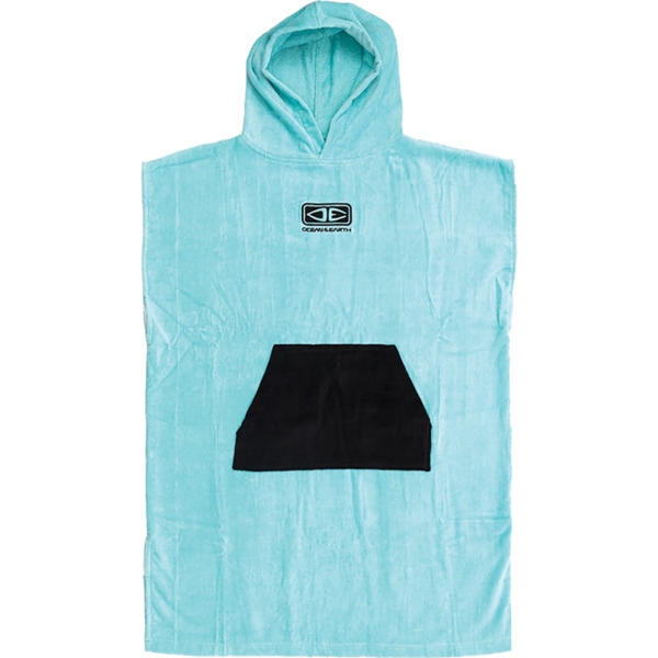 Ocean & Earth Youth Blue / Black Hooded Poncho