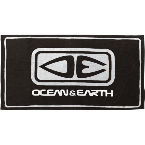 """Ocean & Earth Priority Black Beach Towel 31.5"""" X 60"""""""