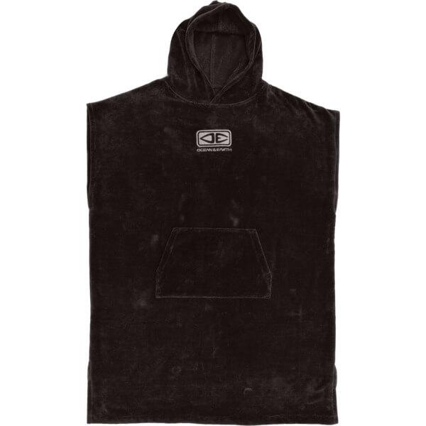Ocean & Earth Mens Corp Black Hooded Poncho