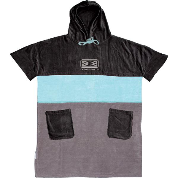 Ocean and Earth Mens Strike Ice Blue / Grey / Black Hooded Poncho