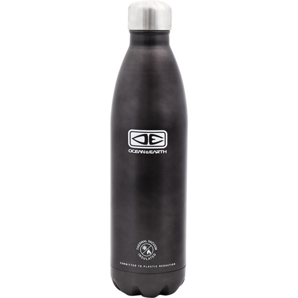 Ocean & Earth 750ml Insulated Charcoal Black Water Bottle