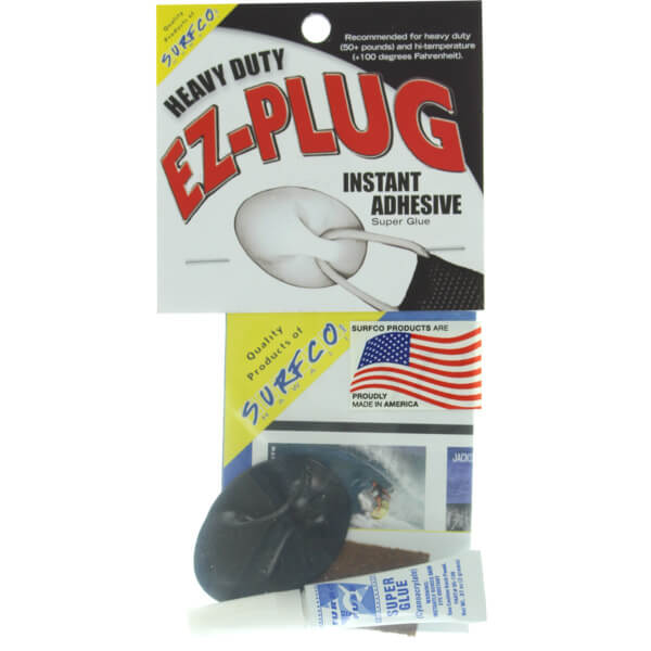 Surfco Hawaii EZ Plug Heavy Duty Black Single Kit